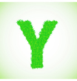 Grass letter y vector