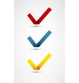 Set of nine different colorful check marks vector