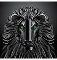 Animals lion black technology cyborg metal robot vector