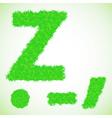 Grass letter z vector