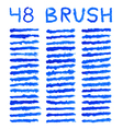 Blue brushes vector