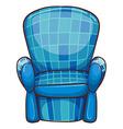 A blue chair vector