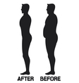 Diet beauty before and after vector