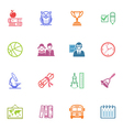 School and education icons set vector
