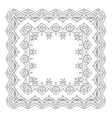 Abstract pattern frame contour vector