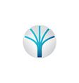 Abstract tech sphere logo template vector