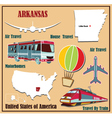 Flat map of arkansas vector