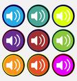 Speaker volume sound vector