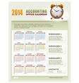 2014 accounting office calendar vector