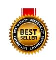 Best seller gold sign label template vector