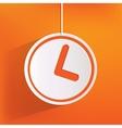 Clock web icon button vector