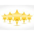 Five stars vector