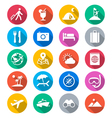 Traveling flat color icons vector