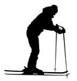 Mountain skier speeding down slope sport vector