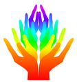 Spirituality peace and love - colorful icon vector