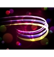 Abstract background with blurred neon lights vector