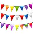 Rainbow bunting banner garland vector