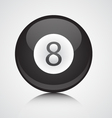 Isolated eight ball vector