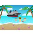 Cruise to beach vector