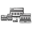 Responsive layout display set vector