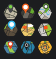 Abstract city map with symbols collection vector