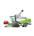 Green harvester isolated on the white vector