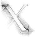 Sketch font letter x vector