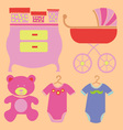 Baby new shower 5 vector