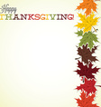 Maple leaf thanksgiving card in format vector