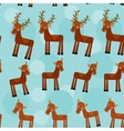 Deer set of funny animals seamless pattern on a vector