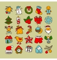 Set of sketch drawing christmas doodle icons vector