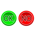 Ok and no buttons vector