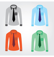 Color shirts with tie eps10 vector
