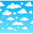 Cartoon clouds vector