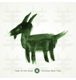 2015 - chinese lunar year of the goat chinese call vector