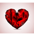 Jewel heart symbol vector
