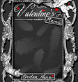 Vintage blackboard for valentine �s menu vector