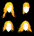 Blonde avatars vector