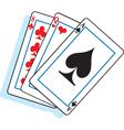 Cartoon playing cards vector
