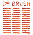 Brown brushes vector