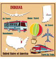 Flat map of indiana vector