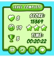 Green game level complete icons buttons vector