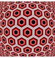 Design distorted hexagon geometric pattern vector