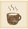 Grungy hot drink icon vector