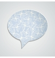 Speech bubble with butterfly ornament and shadow vector