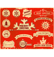Set of christmas vintage labels vector