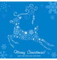 Ornate decorative christmas deer card vector