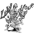 Open heart box i love you vector