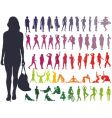 Silhouettes women vector