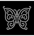 Dotted butterfly vector